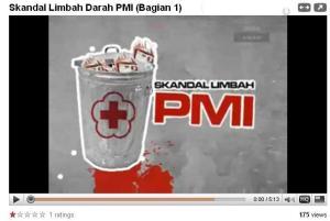 Limbah Darah PMI di Cianjur