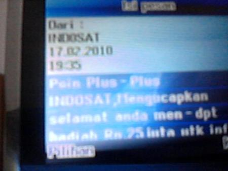 SMS Undian Point Plus-Plus Indosat3