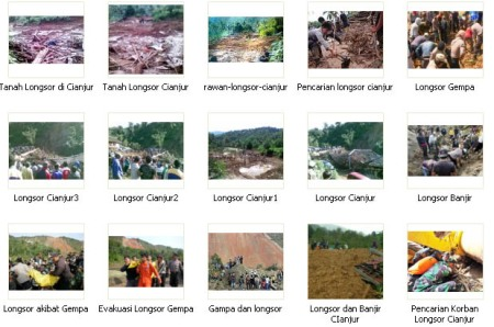 Bencana Longsor Kabupaten Cianjur