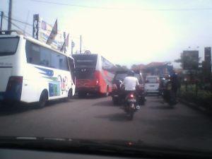 Kondisi di Luar Terminal Arah Sukabumi