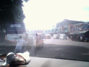 Kondisi di Luar Terminal arah Bandung