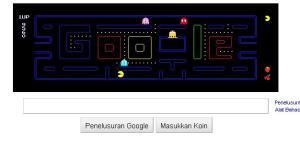 Pac Man Game level 2 skor 9650