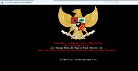 Tampilan KPUD sukabumikab Hacker